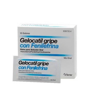 GELOCATIL GRIPE FENILEFRINA 10 SOBRES
