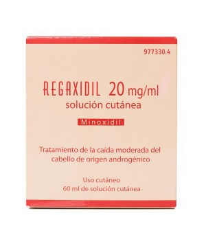 REGAXIDIL 20 MG/ML SOLUCION CUTANEA 1 FRASCO 60 ML