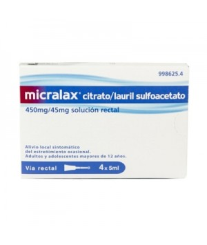 MICRALAX EMULSION RECTAL 4 MICROENEMAS 5 ML
