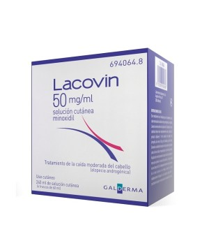 LACOVIN 50 MG/ML SOLUCION CUTANEA 4 FRASCOS 60 ML