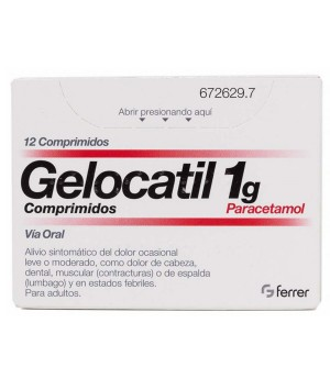 GELOCATIL 1 G 12 COMPRIMIDOS (TIRAS)