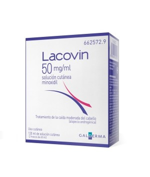 LACOVIN 50 MG/ML SOLUCION CUTANEA 2 FRASCOS 60 ML