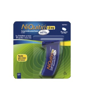 NIQUITIN 1.5 MG 20 COMPRIMIDOS PARA CHUPAR MENTA