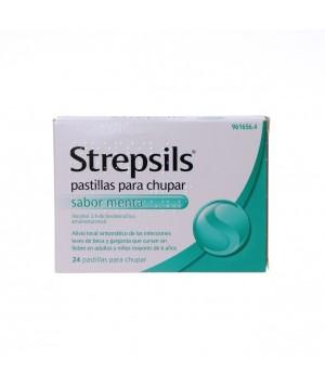STREPSILS 24 PASTILLAS PARA CHUPAR MENTA