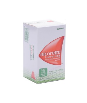 NICORETTE FRESHFRUIT 2 MG 105 CHICLES