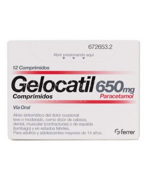GELOCATIL 650 MG 12 COMPRIMIDOS (TIRAS)
