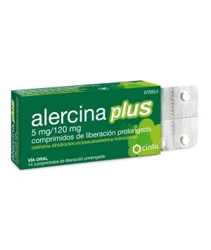 ALERCINA PLUS 5/120 MG 14 COMPRIMIDOS LIBERACION PROLONGADA