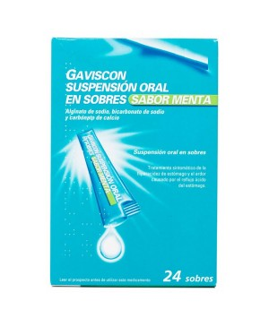 gaviscon 24 SOBRES SUSPENSION ORAL