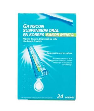 gaviscon 24 SOBRES SUSPENSION ORAL