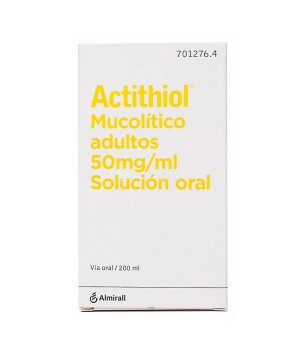 ACTITHIOL MUCOLITICO ADULTOS 50 MG/ML SOLUCION ORAL 200 ML