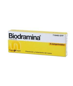 BIODRAMINA 50 MG 4 COMPRIMIDOS