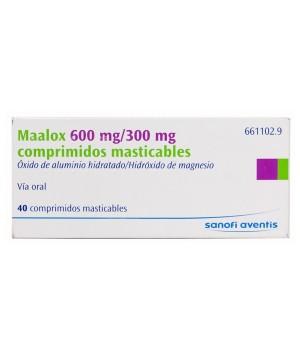 MAALOX CONCENTRADO 600/300 MG 40 COMPRIMIDOS MASTICABLES
