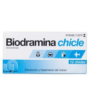 BIODRAMINA 20 MG 12 CHICLES