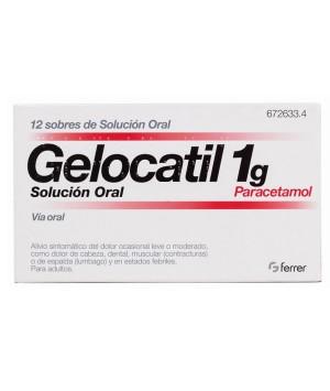 GELOCATIL 1 G 12 SOBRES SOLUCION ORAL