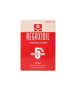 REGAXIDIL 50 MG/ML SOLUCION CUTANEA 2 FRASCOS 60 ML