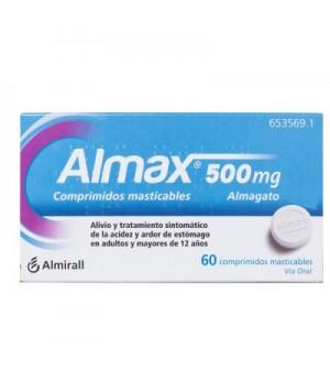 ALMAX 500 MG 60 COMPRIMIDOS MASTICABLES