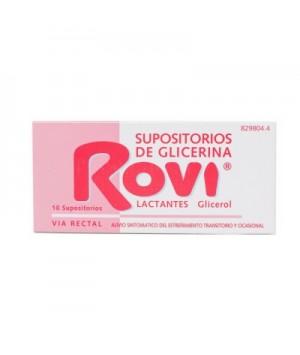 SUPOSITORIOS GLICERINA ROVI LACTANTES 10 SUPOSITORIOS