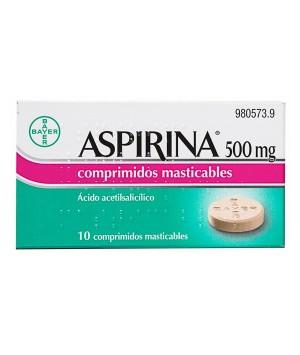 ASPIRINA 500 MG 10 COMPRIMIDOS MASTICABLES