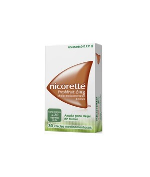 NICORETTE FRESHFRUIT 2 MG 30 CHICLES