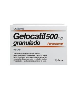 GELOCATIL 500 MG 12 SOBRES GRANULADO